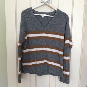 SALE! 5-$25 Pink Rose Grey Mustard V Neck Sweater